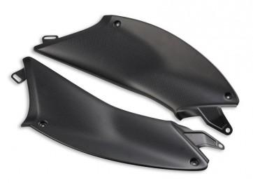 Franjas laterales asiento-depósito de fibra de carbono
