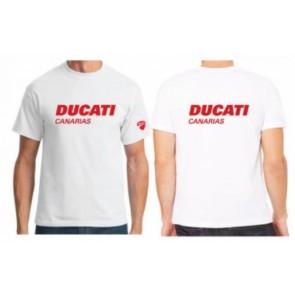 Camiseta Ducati Canarias, blanca